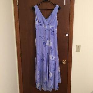 Boston Proper Purple Floral Dress